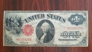 1917 Series $1 One Dollar Red Seal Large Size Currency Note