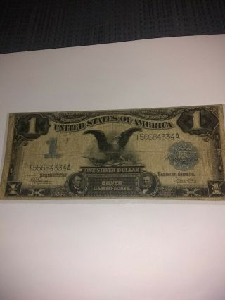 1899 $1 One Dollar Silver Certificate Black Eagle Circulated Note