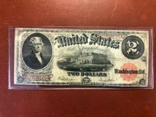 Series Of 1917 Large Size Two Dollar $2 United States Legal Tender Bank Note
