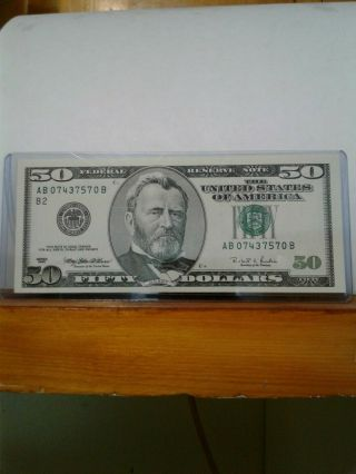 1996 $50 Frn Federal Reserve Note Uncirculated