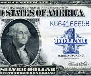 Hgr Sunday 1923 $1 Silver Certificate (stunning) Appears Near Uncirculated