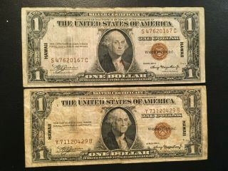 Usa (2 Notes) 1 Dollar 1935 - - Hawaii
