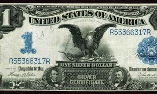 $1 1899 : Black Eagle : Silver Certificate ( (with Tear))