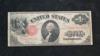 1917 Large One Dollar Fr 39 Note Very Fine $1 Bill Starts At 99 Cents