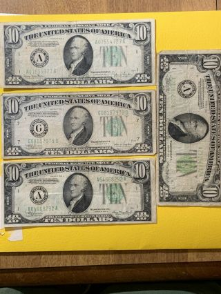 1934 $10 Federal Reserve Note