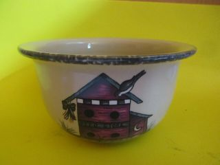 "Vintage Home & Garden Party Soup/cereal Bowl "" Birdhouse "" Pattern 2004"