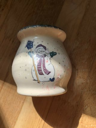 Home And Garden Party Stoneware Snowman Wax Warmer