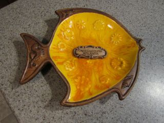 Treasure Craft Pottery - Vintage,  Underground Atlanta,  Fish Shaped Dish,