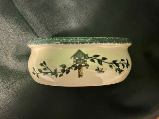 Home & Garden Party Soap Dish - Birdhouse Pattern