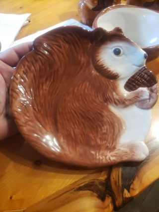 Better Homes And Gardens Vintage Squirrel Plate Earthenware Look