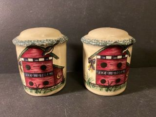 Home & Garden Party Stoneware Birdhouse Salt & Pepper Shakers