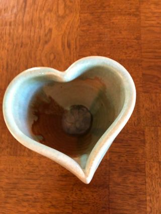 Ceramic Melting Celadon Heart Shaped Hand Crafted Cup/vase