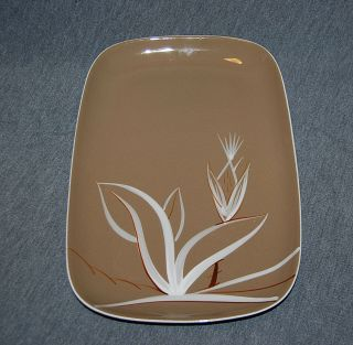 Winfield Desert Dawn Mid Century Hand Crafted True Porcelain Medium Platter.