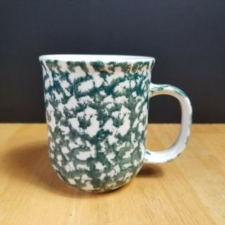 Tienshan Folk Craft Moose Country Mugs Cups Sponge Green And White One (1)