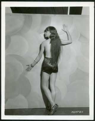 Anna May Wong Risque Topless Back To Camera Vintage 1930s Mgm Photo
