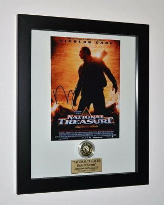 Prop Coin Screen - National Treasure,  Signed Nic Cage,  Blu Ray Dvd,  Uacc