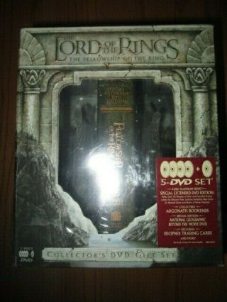 2001 Lord Of The Rings Fellowship Collectors 5 - Dvd Gift Set Argonath Bookend