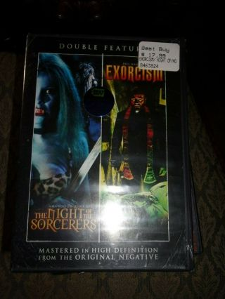 Night Of The Sorcerers/exorcism - Dvd - Double Feature - &