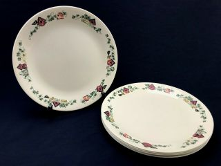 """Set Of 6 Corelle Garden Home Birdhouses Ivy 10 - 1/4 """" Dinner Plates Discontinued"""