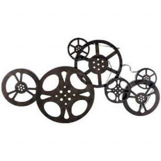 Antique Bronze Metal Movie Reels Wall Art Theater Home Decor Family Room
