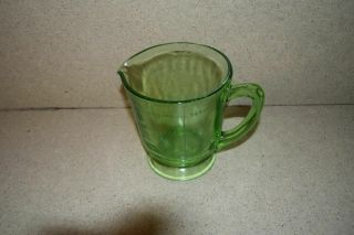 Ma Vintage 4 Cup / 32 Oz Depression Glass Measuring Cup