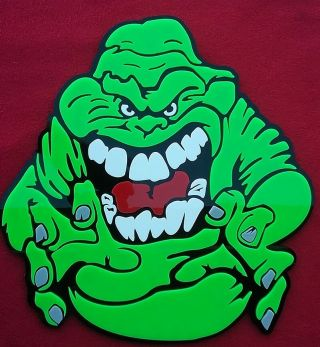Slimer 3d And Ghostbusters 3 - D Art Sign Emblems Murray Monster Movie Dvd