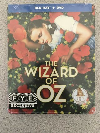 The Wizard Of Oz Steelbook Blu Ray,  Dvd 80th Anniversary Limited Edition