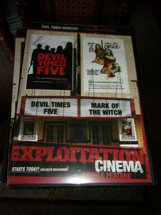 Devil Times Five/mark Of The Witch - Double Feature Dvd - Opened/never Watched