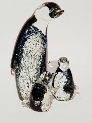 Penguins - Hand Crafted Colourful Glass Penguins By Eamonn Vereker