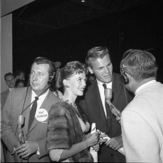 Natalie Wood Tab Hunter Red Carpet Interview Camera Negative & Contact Photo