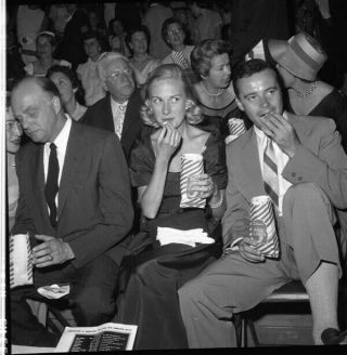 Jack Lemmon Eating Popcorn Movie Theatre Camera Negative &contact Photo