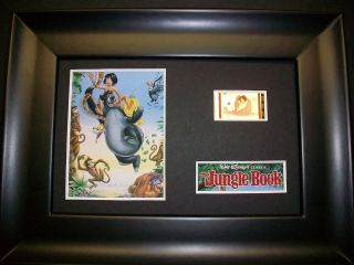 Jungle Book Framed Movie Film Cell Memorabilia Compliments Poster Dvd