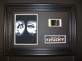 Bride Of Chucky Framed Movie Film Cell Memorabilia Compliments Poster Dvd Book