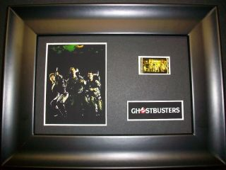 Ghostbusters Framed Movie Film Cell Memorabilia Compliments Poster Dvd