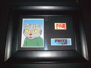 Fritz The Cat Framed Movie Film Cell Memorabilia Compliments Poster Dvd