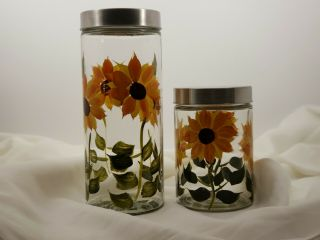 Sunflower Canisters,  Set Of 2