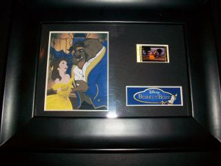 Beauty & The Beast Framed Movie Film Cell Memorabilia Compliments Poster Dvd Vhs