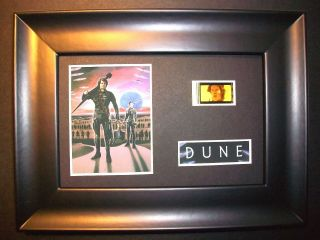 Dune Framed Movie Film Cell Memorabilia Compliments Poster Dvd Book Animation