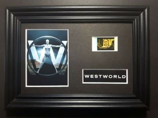 Westworld Series Framed Movie Film Cell Complements Poster Dvd Book