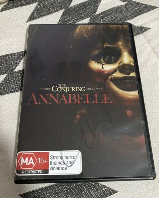 Annabelle & Creation Signed Autographed 2x Dvd Miranda Otto The Conjuring Wallis