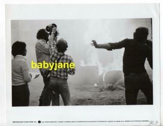 Director Stanley Kubrick 8x10 Photo Holding Film Camera 1970