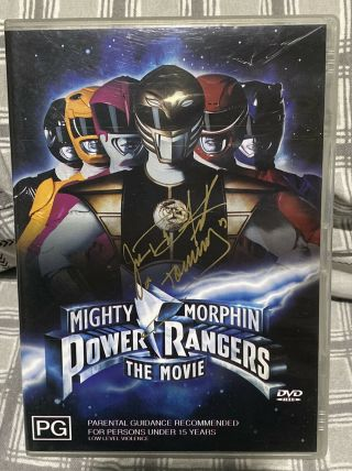 Jason David Frank Signed Autographed Mighty Morphin Power Rangers Dvd Movie R4