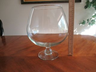 """Giant Glass Clear Brandy Snifter Fish Bowl Piano Bar Tip Jar Crafts 11.  5"""" Change"""
