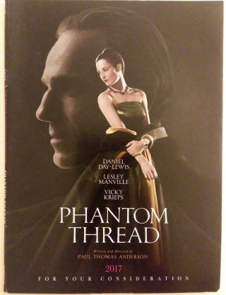 Phantom Thread Fyc Dvd Paul Thomas Anderson D.  Day - Lewis Fyc 2017 Focus Features