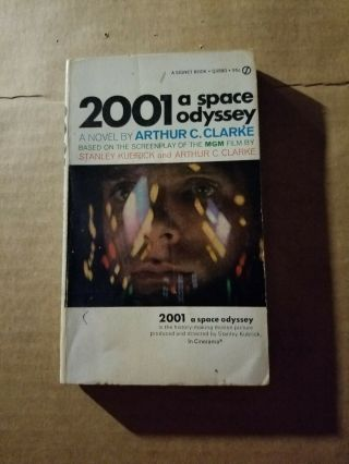 2001 A Space Odyssey Paperback 1968 And Dvd