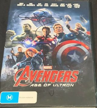 Chris Hemsworth Signed Autograph Avengers Age Of Ultron Dvd
