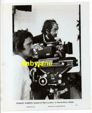 Director Stanley Kubrick 8x10 Photo 1975 Behind Camera On Barry Lyndon