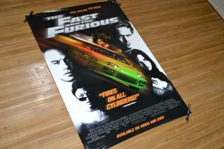 Fast And The Furious (not Double Sided) Movie Poster 27x40 Dvd Store