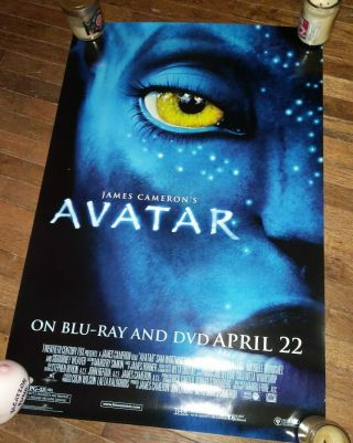 "Avatar (2009) Movie Poster From Dvd Bluray Release - Rolled 27 "" X 40 """