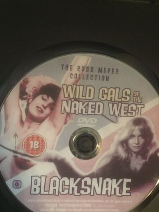 Wild Gals Of The Naked West / Black Snake Double Feature Russ Meyer Dvd - Amazin